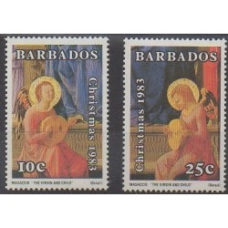Barbados - 1983 - Nb 587/588 - Music - Christmas