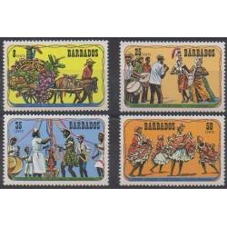Barbados - 1975 - Nb 401/404 - Music - Folklore