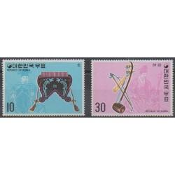 South Korea - 1974 - Nb 800/801 - Music