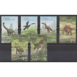 Hong Kong - 2014 - Nb 1706/1711 - Prehistoric animals
