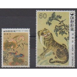 South Korea - 1980 - Nb 1053/1054 - Paintings
