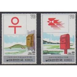 South Korea - 1984 - Nb 1224/1225 - Postal Service