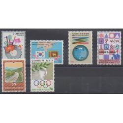South Korea - 1984 - Nb 1232/1237
