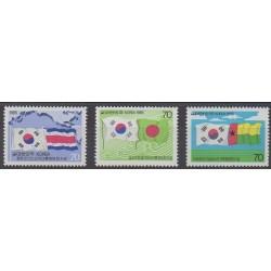 South Korea - 1985 - Nb 1271 et 1276/1277 - Flags