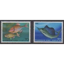South Korea - 1985 - Nb 1272/1273 - Sea life