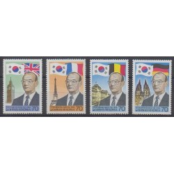 South Korea - 1986 - Nb 1301/1304 - Celebrities
