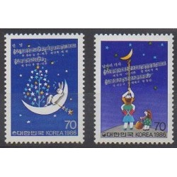 South Korea - 1986 - Nb 1312/1313 - Music - Childhood