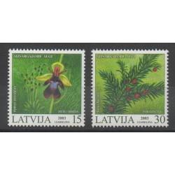 Lettonie - 2003- No 578/579 - Fleurs
