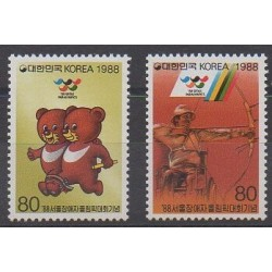South Korea - 1988 - Nb 1419/1420 - Summer Olympics
