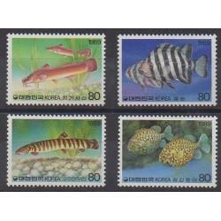 South Korea - 1989 - Nb 1447/1450 - Sea life