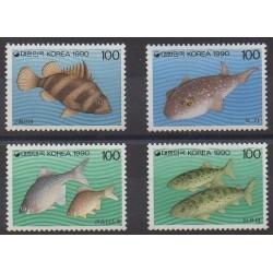 South Korea - 1990 - Nb 1468/1471 - Sea life