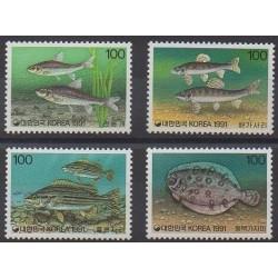 South Korea - 1991 - Nb 1516/1519 - Sea life