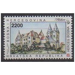 Bosnia and Herzegovina Herceg-Bosna - 1993 - Nb 1K - Monuments