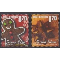 Bosnia and Herzegovina Herceg-Bosna - 2008 - Nb 221/222 - Christmas - Gastronomy