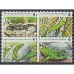 Bosnie-Herzégovine Herceg-Bosna - 2010 - No 268/271 - Animaux - Espèces menacées - WWF