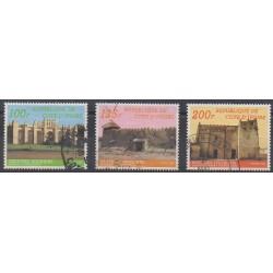 Côte d'Ivoire - 1985 - No 710A/710C - Monuments - Oblitérés
