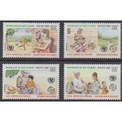 Côte d'Ivoire - 1985 - No 729/732 - Nations unies - Enfance