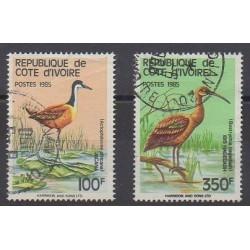 Côte d'Ivoire - 1985 - No 720B/720C - Oiseaux - Oblitérés