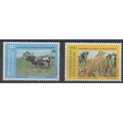Côte d'Ivoire - 1986 - No 782/783 - Mammifères - Sciences et Techniques