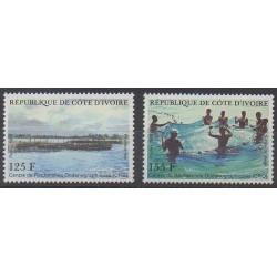 Côte d'Ivoire - 1986 - No 779/780 - Sciences et Techniques - Vie marine