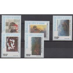 Côte d'Ivoire - 1988 - No 809/813 - Peinture
