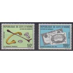 Côte d'Ivoire - 1989 - No 820/821 - Monnaies, billets ou médailles