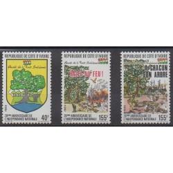 Ivory Coast - 1988 - Nb 816/818 - Trees - Various Historics Themes