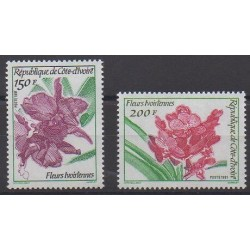 Côte d'Ivoire - 1991 - No 886/887 - Fleurs