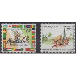 Côte d'Ivoire - 1992 - No 900A/900B - Sports divers