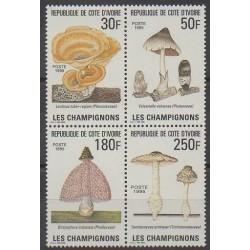 Ivory Coast - 1995 - Nb 950/953 - Mushrooms