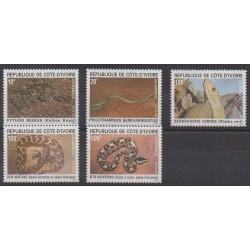 Côte d'Ivoire - 1995 - No 943/947 - Reptiles