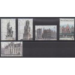 Belgium - 2012 - Nb 4265/4269 - Monuments