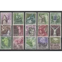Espagne - 1962- No 1134/1144 - PA 290/PA293 - Religion