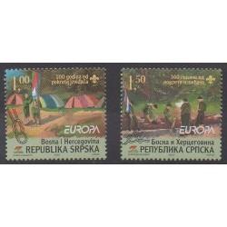 Bosnie-Herzégovine République Serbe - 2007 - No 362/363 - Scoutisme - Europa