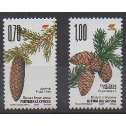 Bosnie-Herzégovine République Serbe - 2007 - No 387/388 - Arbres