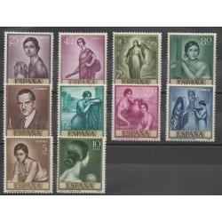 Spain - 1965- Nb 1312/1321 - Painting