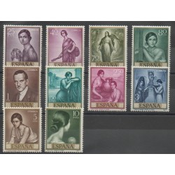 Espagne - 1965- No 1312/1321 - Peinture