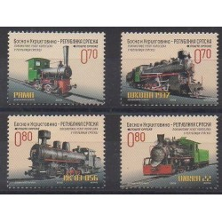 Bosnia and Herzegovina Serbian Republic - 2009 - Nb 446/449 - Trains