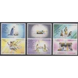 Saint Vincent - 1979 - Nb 576/581 - Christmas