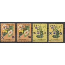 Guyana - 1981- No 597/600 - Fleurs