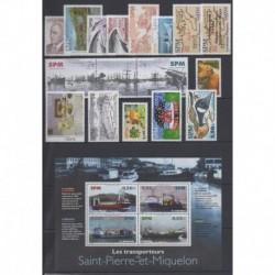 Saint-Pierre et Miquelon - Complete year - 2004 - Nb 810/828 - BF10 - PA84