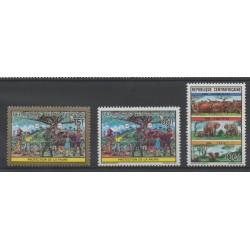 Centrafricaine (République) - 1991- No 850/852 - Environnement
