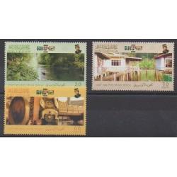 Brunei - 2001 - Nb 589/591 - Tourism