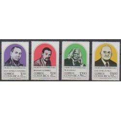 Costa Rica - 1984 - Nb 381/384 - Music