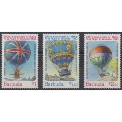 Barbuda - 1983 - Nb 623/625 - Hot-air balloons - Airships