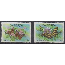 Barbuda - 1978 - Nb 408 et 410 - Insects