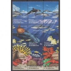 Barbuda - 1995 - Nb 1512/1520 - Mamals - Sea life