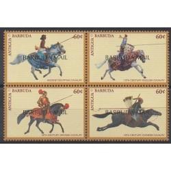 Barbuda - 1998 - Nb 1775/1778 - Horses - Military history