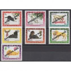 Barbuda - 1998 - No 1851/1857 - Chiens - Noël