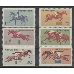 Bulgarie - 1965- No 1356/1361 - Chevaux